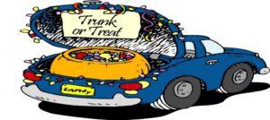 Candy in a car trunk